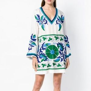 Boho Mexican Handmade Embroidered Mini Dress S/M